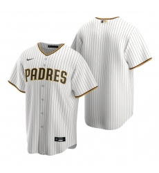 Men's Nike San Diego Padres Blank White Brown Home Stitched Baseball Jersey