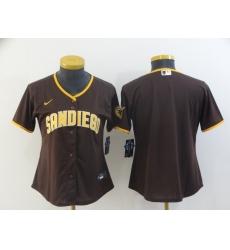 Women's San Diego Padres Blank Brown Baseball Jersey