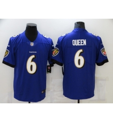 Men's Baltimore Ravens #6 Patrick Queen Nike Purple Limited Player Jersey