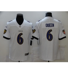 Men's Baltimore Ravens #6 Patrick Queen Nike White Limited Player Jersey