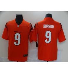 Men's Cincinnati Bengals #9 Joe Burrow Nike Orange Alternate Vapor Limited Jersey