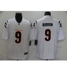 Men's Cincinnati Bengals #9 Joe Burrow Nike White Alternate Vapor Limited Jersey