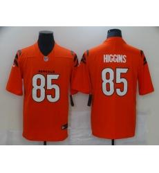 Men's Cincinnati Bengals #85 Tee Higgins Nike Orange Vapor Limited Jersey