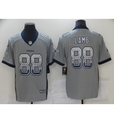 Men's Dallas Cowboys #88 CeeDee Lamb Gray Nike Rush Drift Fashion Limited Jersey