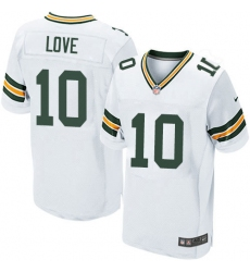 Men's Green Bay Packers #10 Jordan Love White Stitched NFL New Elite Jersey