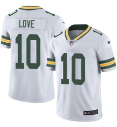 Men's Green Bay Packers #10 Jordan Love White Stitched NFL Vapor Untouchable Limited Jersey