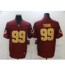 Men's Washington Redskins #99 Chase Young Olive Gold 2020 NFL Draft Vapor Limited Jersey