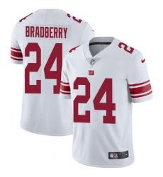 Nike New York Giants #24 James Bradberry White Men's Stitched NFL Vapor Untouchable Limited Jersey