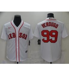Men's Boston Red Sox #99 Alex Verdugo Nike White Authentic Home Jersey
