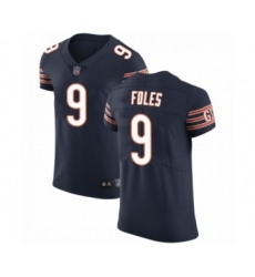 Men's Chicago Bears #9 Nick Foles Navy Elite Vapor Untouchable Jersey