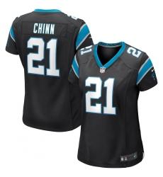 Women's Carolina Panthers #21 Jeremy Chinn Nike Black Game Jersey