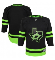 Youth Dallas Stars Blank Black 2020-21 Alternate Premier Jersey