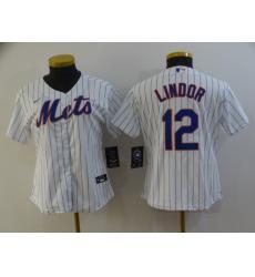 Women's Nike New York Mets #12 Francisco Lindor White Jersey