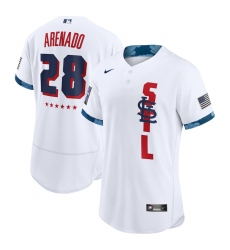 Men's St. Louis Cardinals #28 Nolan Arenado Nike White 2021 MLB All-Star Game Authentic Player Jersey