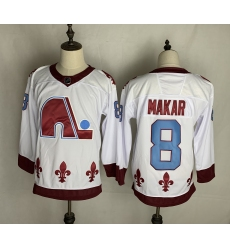 Men's Quebec Nordiques #8 Cale Makar White 2020-21 Special Edition Breakaway Player Jersey