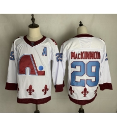 Men's Quebec Nordiques #29 Nathan MacKinnon White 2020-21 Special Edition Breakaway Player Jersey