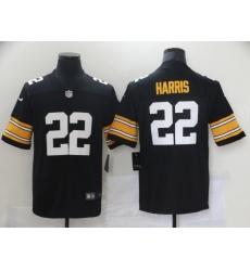 Men's Pittsburgh Steelers #22 Najee Harris Nike Black 2021 Draft First Round Pick Limited Jersey