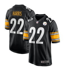 Men's Pittsburgh Steelers #22 Najee Harris Nike Black 2021 NFL Draft First Round Pick Game Jersey