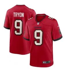 Men's Tampa Bay Buccaneers #9 Joe Tryon Nike Red 2021 NFL Draft First Round Pick No. 32 Game Jersey