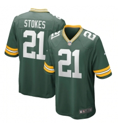 Men's Green Bay Packers #21 Eric Stokes Nike Green 2021 NFL Draft First Round Pick Game Jersey