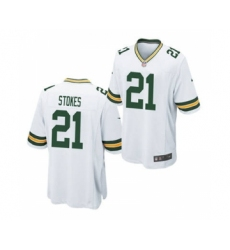 Men's Green Bay Packers #21 Eric Stokes White 2021 Football Draft Stitched Limited Jersey
