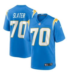 Men's Los Angeles Chargers #70 Rashawn Slater Nike Powder Blue 2021 NFL Draft First Round Pick Game Jersey