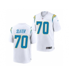 Men's Los Angeles Chargers #70 Rashawn Slater White 2021 Vapor Untouchable Limited Jersey