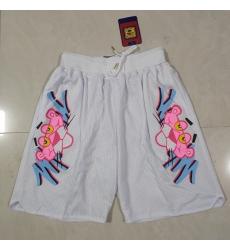 Men's Miami Heat Pink Panther White Shorts