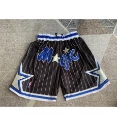 Men's Orlando Magic Black striped four pockets Shorts