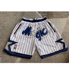 Men's Orlando Magic White striped four pockets Shorts