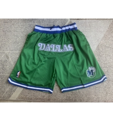 Men's Dallas Mavericks Green Juston retro Shorts