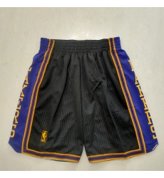 Men's Los Angeles Lakers Black Purple Shorts