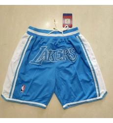 Men's Los Angeles Lakers Blue Shorts-002