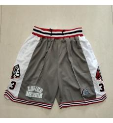 Men's Los Angeles Lakers Gray White Shorts-003