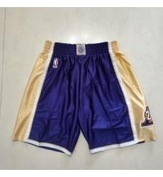 Men's Los Angeles Lakers Purple Gold Shorts-001