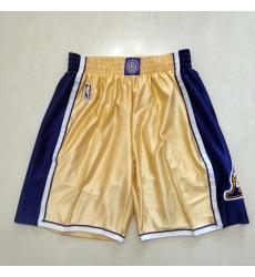 Men's Los Angeles Lakers Purple-Gold Shorts