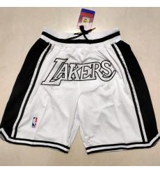 Men's Los Angeles Lakers White Shorts