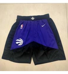 Men's Toronto Raptors Black-Purple Shorts