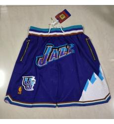 Men's Utah Jazz Big snow mountain purple pocket Shorts