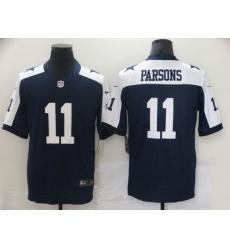 Men's Dallas Cowboys #11 Micah Parsons Nike Blue 2021 Throwback Limited Jersey