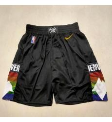 Men's Denver Nuggets Black City Shorts