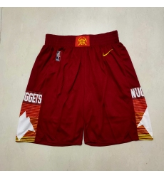 Men's Denver Nuggets Red City Shorts