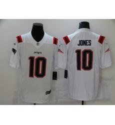 Men's New England Patriots #10 Mac Jones White 2021 NFL Draft First Round Pick Leopard Jersey