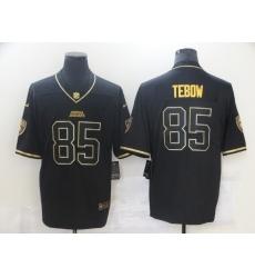 Men's Jacksonville Jaguars #85 Tim Tebow Black Gold Nike Teal Limited Jersey