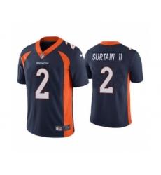 Men's Denver Broncos #2 Patrick Surtain II 2021 Football Draft Navy Vapor Untouchable Limited Jersey