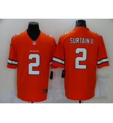 Men's Denver Broncos #2 Patrick Surtain II Nike Orange 2021 Draft First Round Pick Limited Jersey