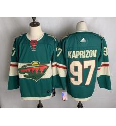 Men's Minnesota Wild #97 Kirill Kaprizov Fanatics Branded Green Home Breakaway Replica Jersey