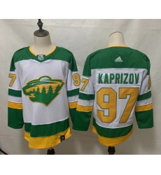 Men's Minnesota Wild #97 Kirill Kaprizov Fanatics Branded White Home Breakaway Replica Jersey
