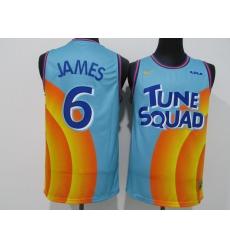 Men's Slam Dunk #6 James Slam dunk version blue NBA jersey