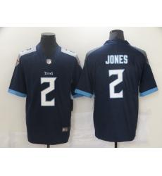 Men's Tennessee Titans #2 Julio Jones Nike Navy Draft First Round Pick Limited Jersey